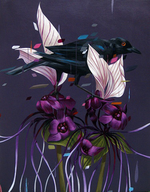 птицы на картинахxцветы на картинахxкартины американского художника, картины акриловыми красками