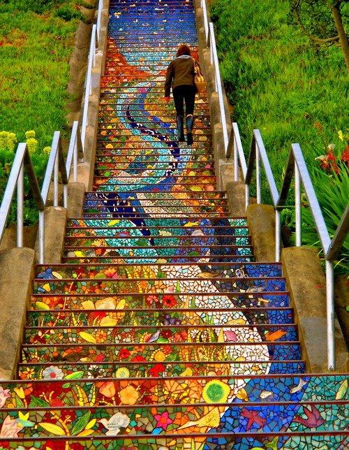мозаичная лестница (500x644, 364Kb)