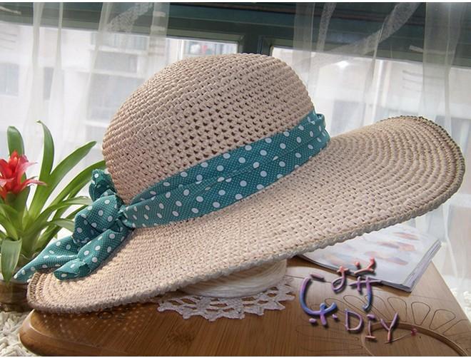 Летняя шляпка женская с