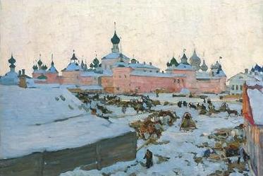 Зима в Ростове (1906.  Константин Юон.