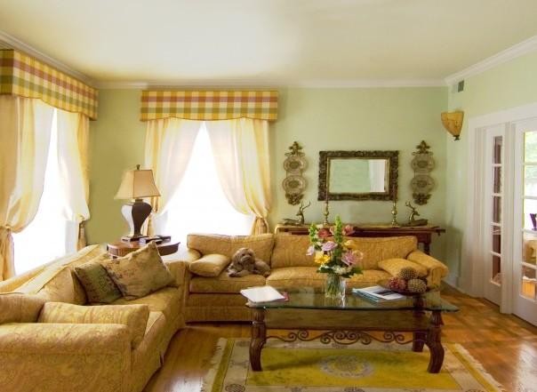 Гостиная прованс, фото интерьера.