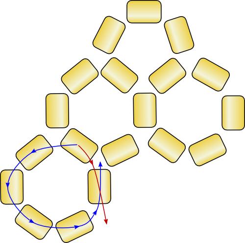 схема морской звезды из бисера.
