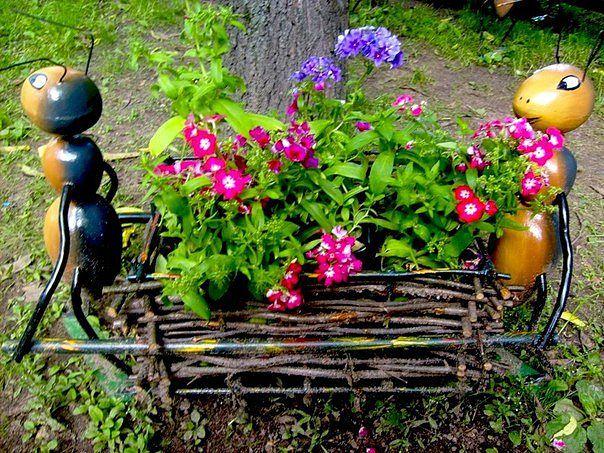 Садовый дизайн фигуры своими руками