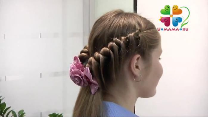 Прическа для девочек с косами
