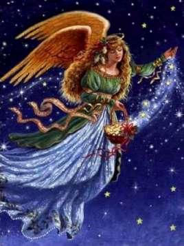 Рождественские вышивки крестом ангелы