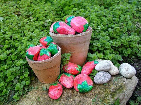 Поделки из камней своими руками для сада фото