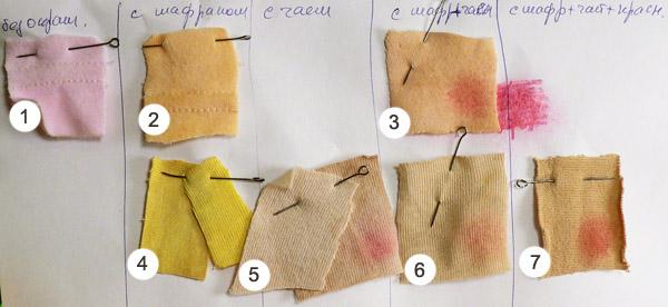 Как покрасить ткань для тильды чаем 122