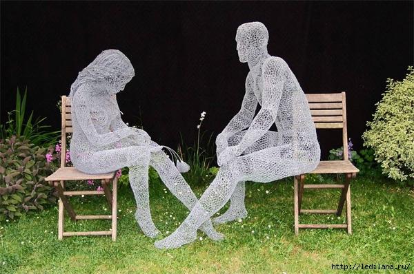 скульптуры британца Дерека Кинцетта7 (600x398, 229Kb)