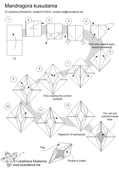 Оригами кусудами схемы