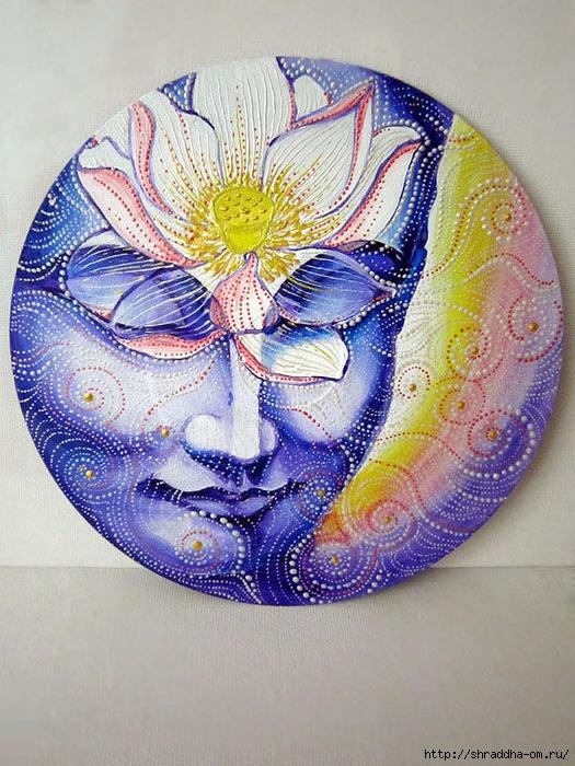 Медитация, акрил, автор Shraddha, (1) (525x700, 333Kb)