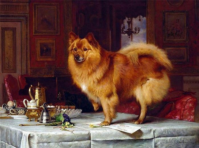 Charles Burton Barber .Marco am Frühstückstisch Queen (700x521, 295Kb)