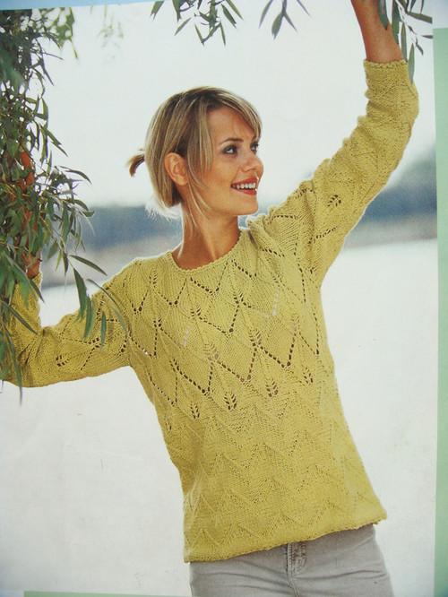 Пуловер С Листьями С Доставкой