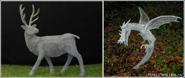 скульптуры британца Дерека Кинцетта2 (600x253, 95Kb)