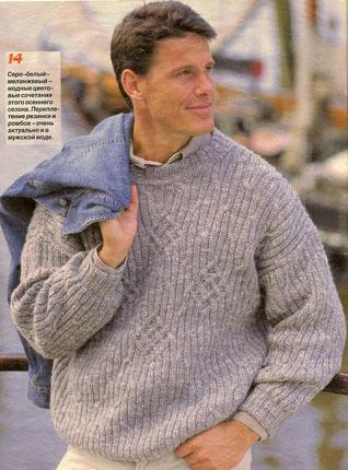 Вязание на спицах модели и схемы для мужчин.