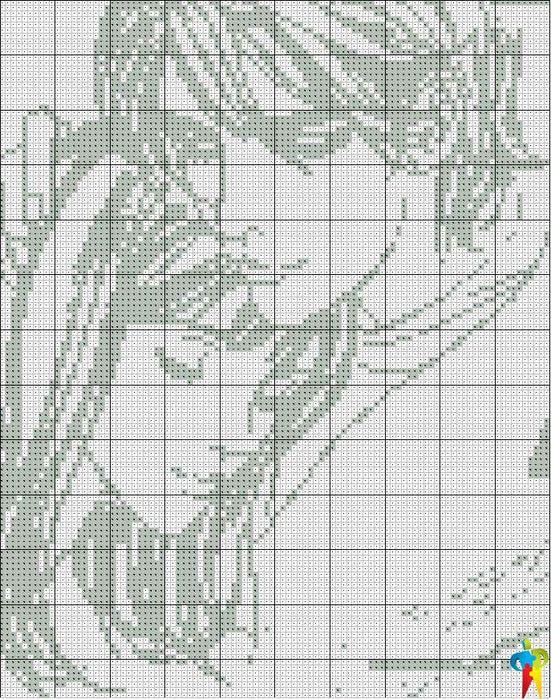 схема вышивки крестом пара.