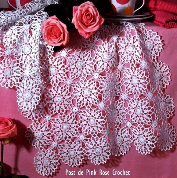 Toalha Croche . PRose Crochet (580x583, 113Kb)