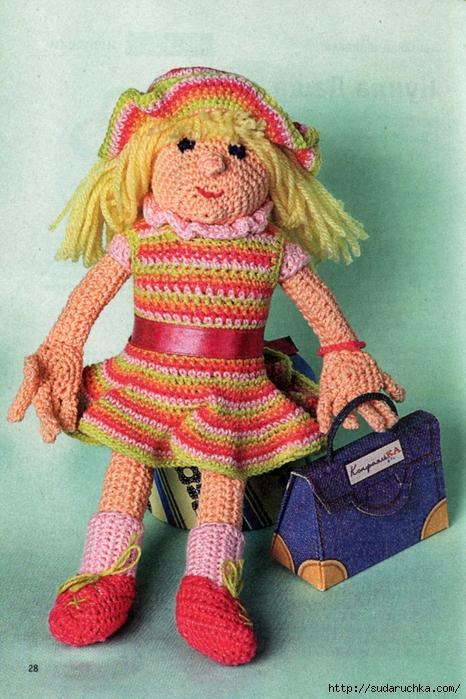 Далее описание вязаной куклы