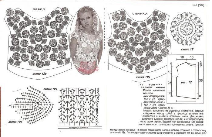Ирландское вязание схемы моделей