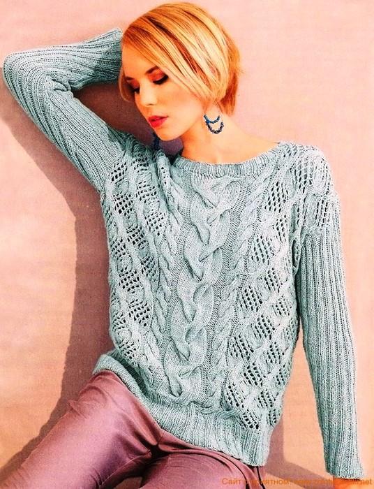 Вязание кофты свитера