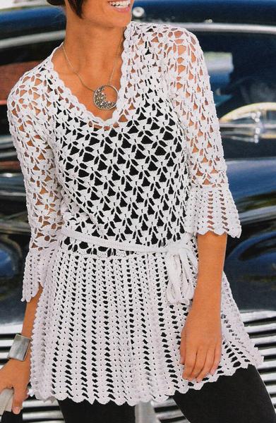 Blusa Tunica Crochet Br (391x600, 597Kb)