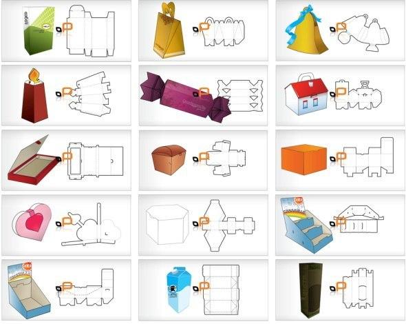 Схемы подарочных коробок.