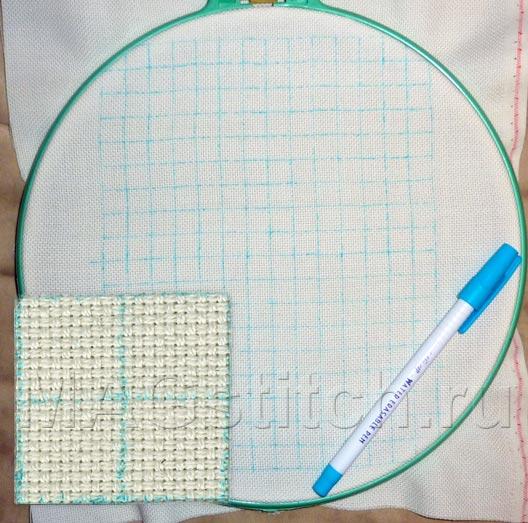 Как перевести на канву для вышивки крестом