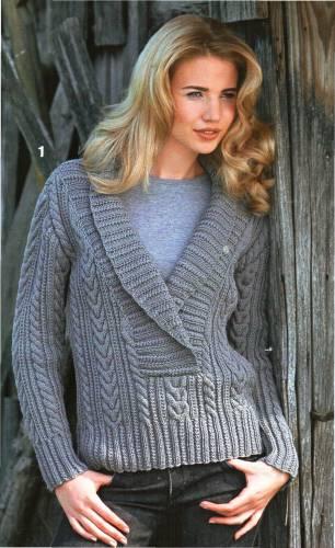 Вязание свитер с воротника 9