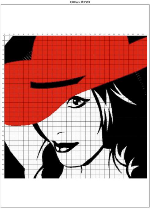 Дама в красной шляпе.