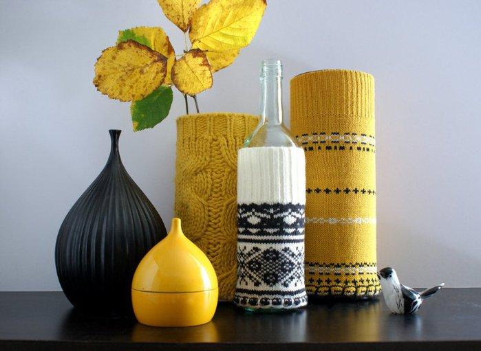 Вязание - вазы для цветов.