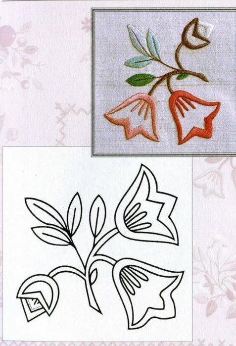 Рисунки вышивок гладью цветов 142