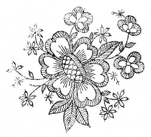Сайт о вышивке гладью.  Рисунки и схемы для вышивки гладью.