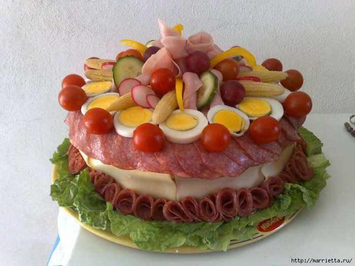 Торт колбасный рецепт с пошагово