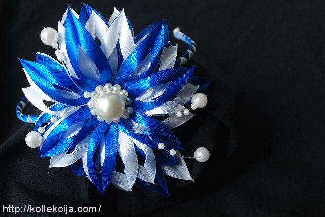 Цветок из узкой атласной ленты своими руками пошаговое фото