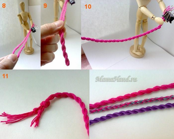Плетем шнур из ниток