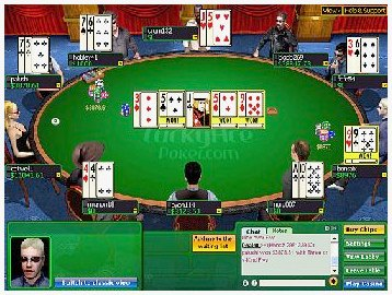 Рабочее место игрока в покер