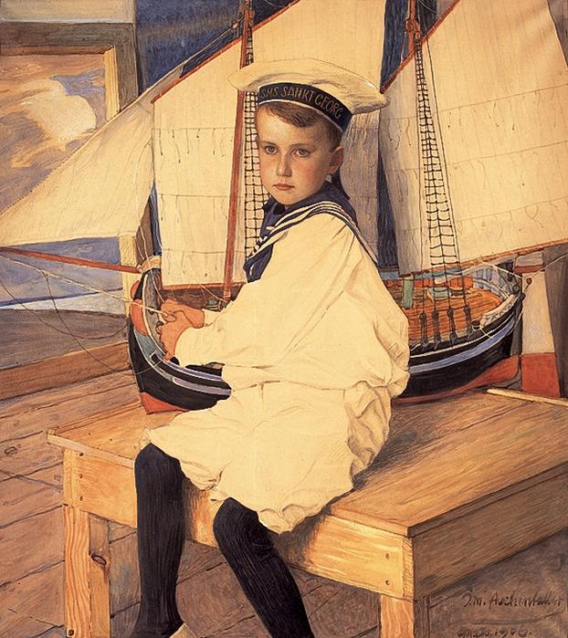 Josef Maria Auchentaller, Portrait of Peter, 1906 (622x700, 407Kb)