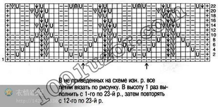 1001 узоры спицами схемы описание