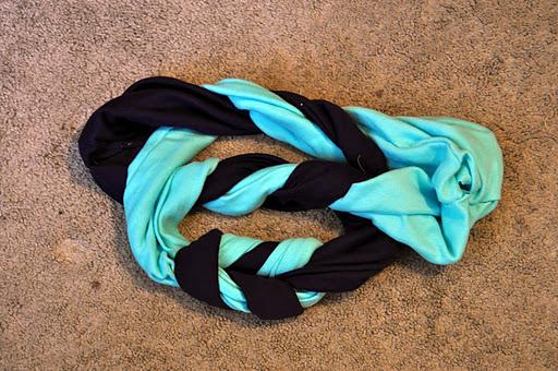 基斯的旧T恤变时尚编织围巾(大师班) - maomao - 我随心动