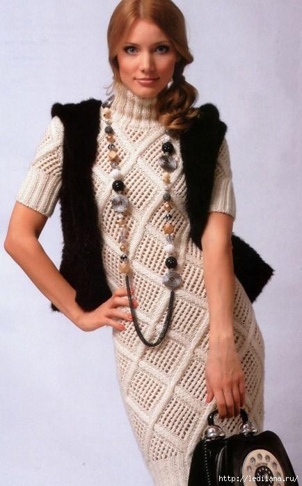 Платье сетчатым узором (434x700, 175Kb)