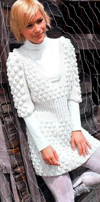 платье шишечками (348x700, 116Kb)