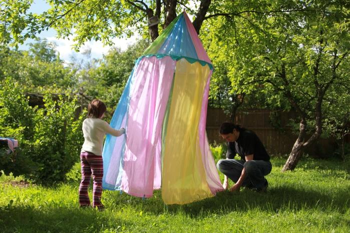 Как сшить шатер отдыха своими руками