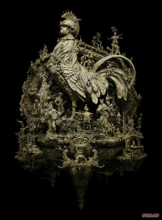 Kris Kuksi скульптуры 9 (515x700, 65Kb)