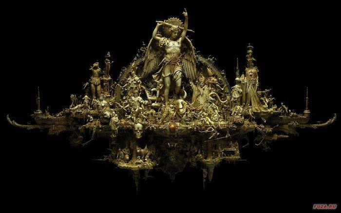 Kris Kuksi скульптуры 10 (700x437, 49Kb)