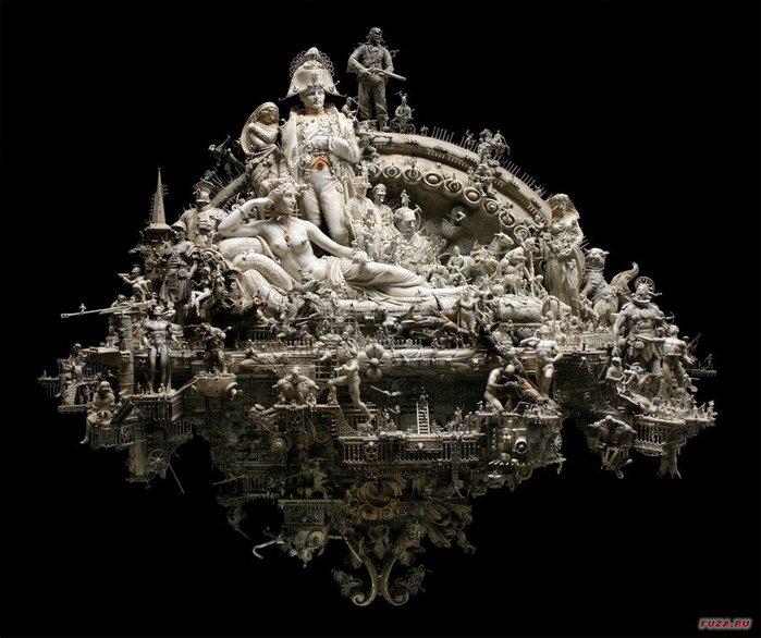 Kris Kuksi скульптуры 16 (700x586, 82Kb)
