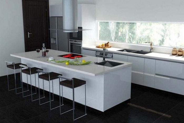 Черно-белый дизайн квартир 14 (700x467, 61Kb)