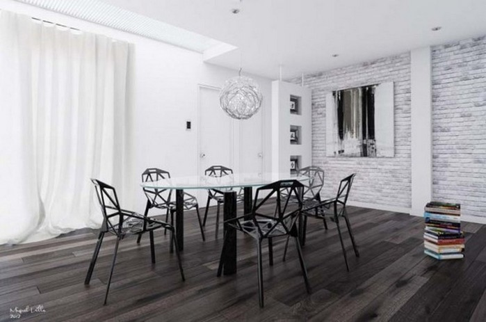 Черно-белый дизайн квартир 26 (700x463, 66Kb)