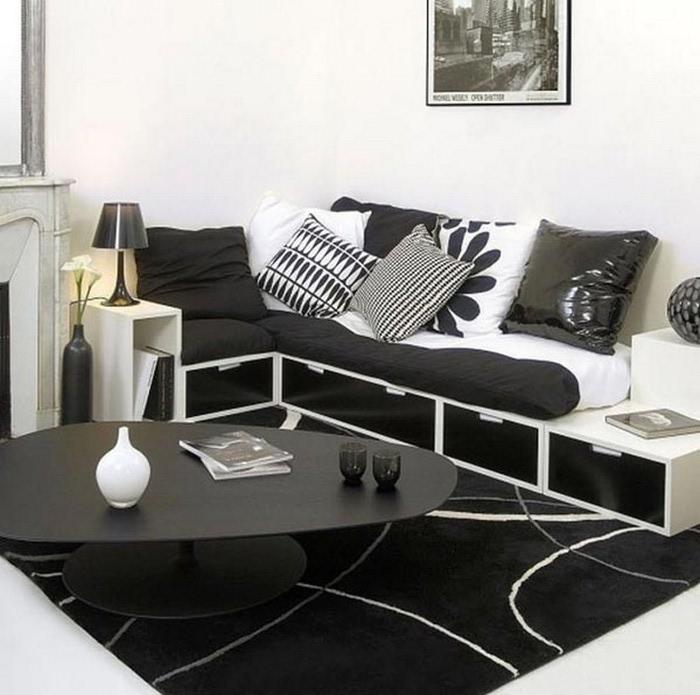 Черно-белый дизайн квартир 28 (700x695, 92Kb)