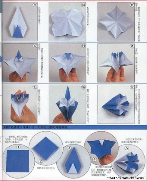 Так же как и во всем модульном оригами - надо научиться делать основной модуль, а затем складывать их в соответствии...