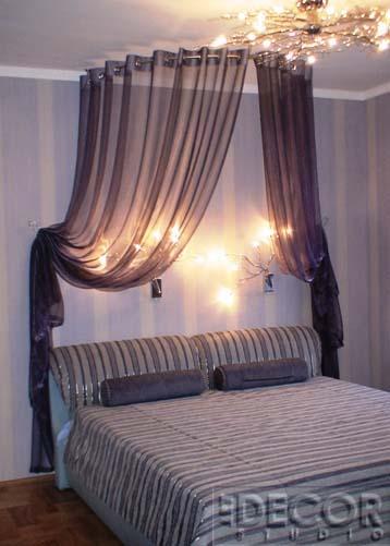 Как красиво сделать шторы в спальне фото - Visit-petersburg.com