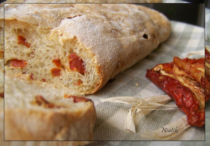 Чиабатта с вялеными помидорами рецепт